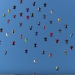 Skydivers in Wingsuits