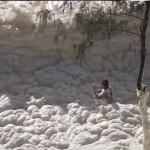Foam Beaches from Australian Storm