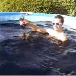 Taking a bath in a Coca-Cola Pool