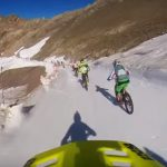 Bike race on Glacier