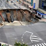 Giant sinkhole filled in 48 hours
