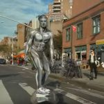 Silver surfer down NYC