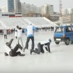 Russian car curling tournament